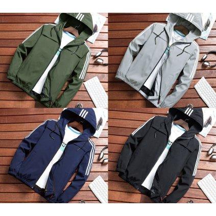 Sportovní pánská bunda s kapuci malé velikosti (5)
