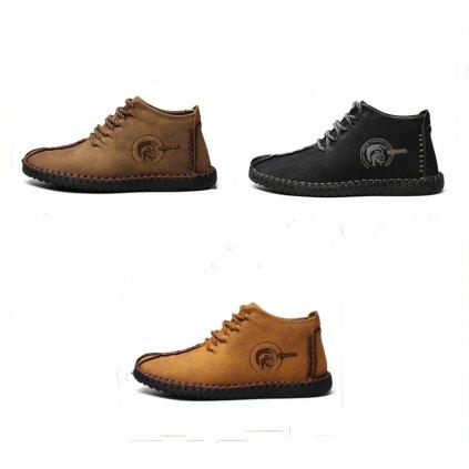 Pánské kotníkové zimní boty s teplým kožíškem (6)