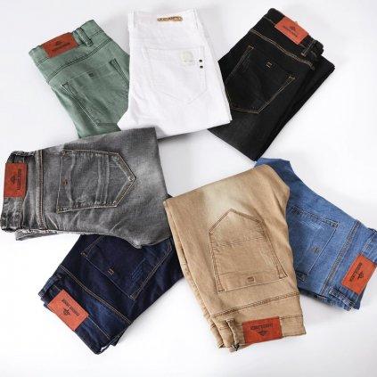 Pánské modní džíny zelené