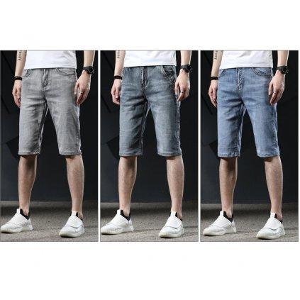 Vintážní džínové šortky pro pány šedé (2)