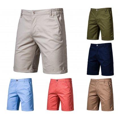 Bavlněné klasické šortky pro pány více barev (28)