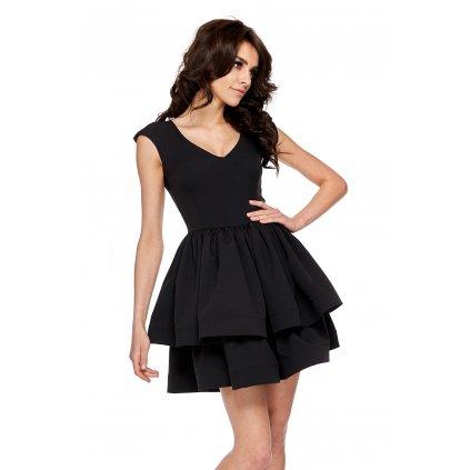 Vypasované Dívčí šaty s volány se širokou áčkovou sukní (6)