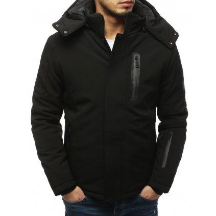 Pánská zimní softshellová bunda s kapucí a kapsami (1)