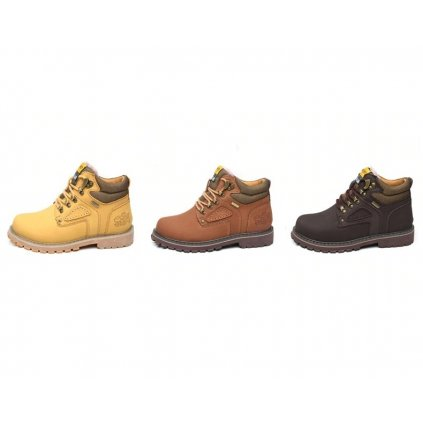 Masivní boty pro pány na zimu hnědé barvy (6)