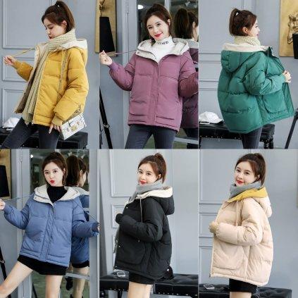 Ovesize dámská bunda zimni s kapucí (5)