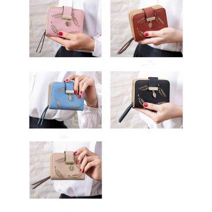 Stylová peněženka pro dámy vzorovaná černé barvy (1)