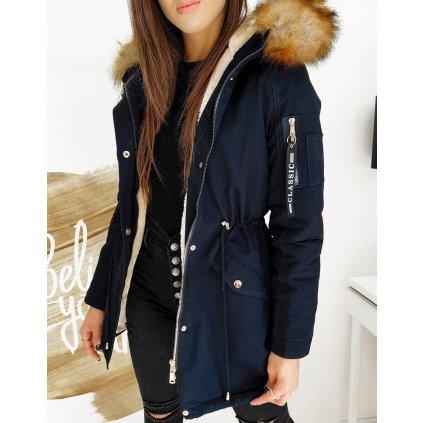 Dámská zimní parka teplá bunda s kožešinou na kapuci (19)
