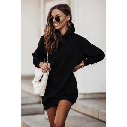 Oversize univerzální mikinové šaty s kapucí a dlouhým rukávem (5)