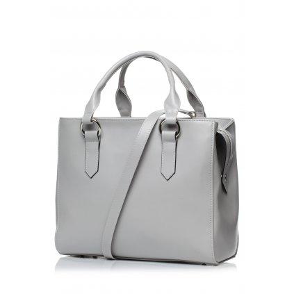 Elegantní šedá kabelka pro každodenní nošení praktická a stylová (7)