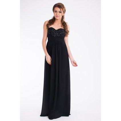 Dlouhé společenské šaty na ples korzetové s třpytivým topem