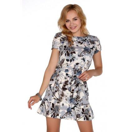 Květované letní šaty délky mini