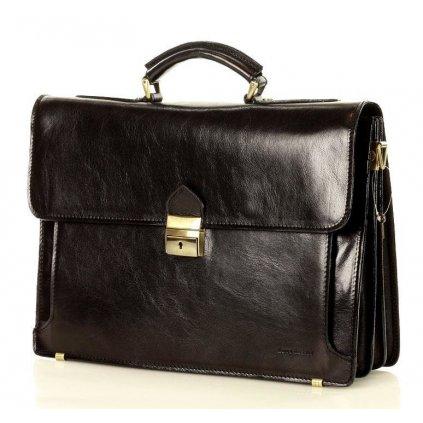 Pánská kožená aktovka / taška MARCO MAZZINI handmade - ROBERTO Classic