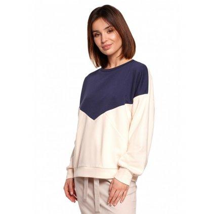 Barevný top bavlněný svetr dámský BE B196