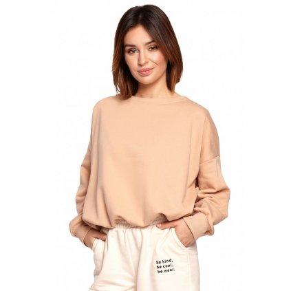 Dámský oversize svetr top s odhalenými zády BE B185