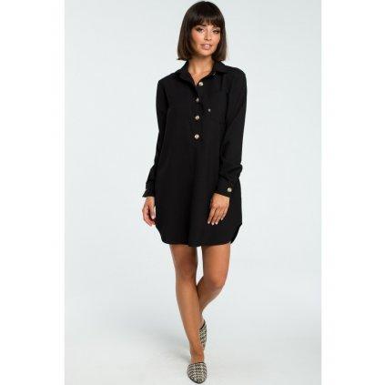 Dámská dlouhá Košile-tunikové šaty na knoflíky BEWEAR B086