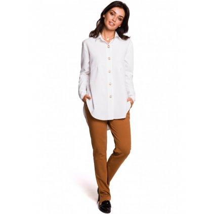 Dámská bílá košile s originálními knoflíky BeWear B122