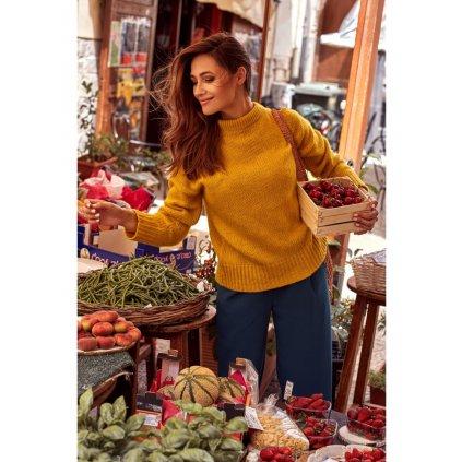 Pletený pulovr se stojatým límcem style S185