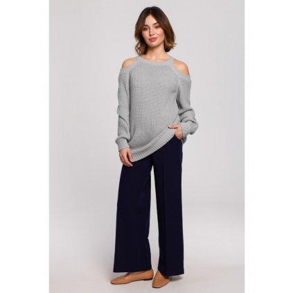 Klasický svetr s odhalenými rameny BK069
