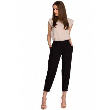 Klasické kalhoty s elastickým pasem S255