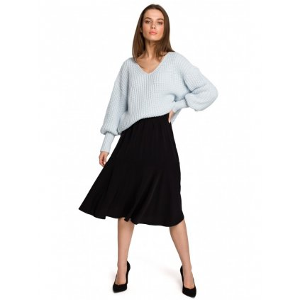 Vzdušná skládaná sukně jednobarevná  S261