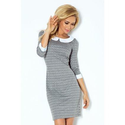Šaty s kulatým límcem - LABYRINTH NUMOCO 111-2