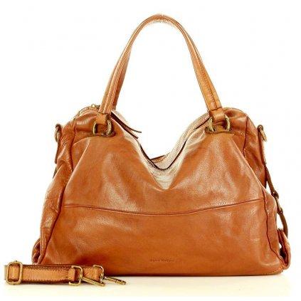 Hobo kožená kabelka přes rameno old style taška kůže Itálie