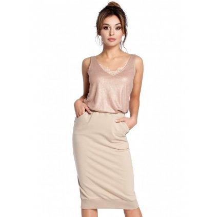 Pletená přiléhavá sukně s gumičkami B031