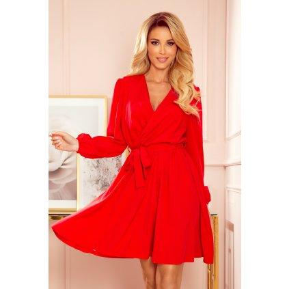 BINDY Ženské zavinovací šaty s obálkovým výstřihem 339-1