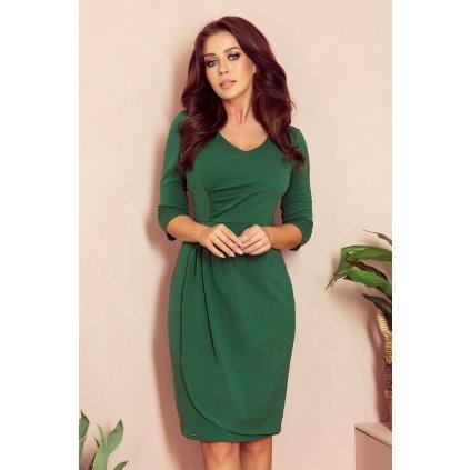 IRIS Elegantní Skládané šaty s plisováním NUMOCO 255-2