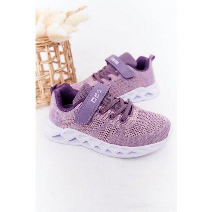 Dětské Sportovní Obuv Sneakersy Big Star HH374183 Fialové