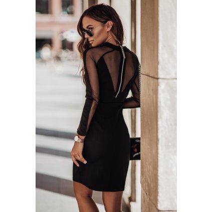 Nádherné pouzdrové šaty v černé barvě JESSICA