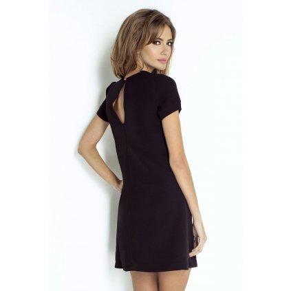 Klasické mini šaty v černé barvě