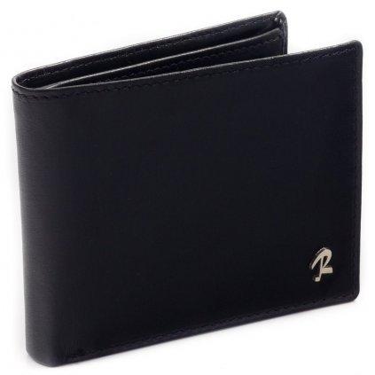 Klasická kožená peněženka pánská  černá hovězí kůže