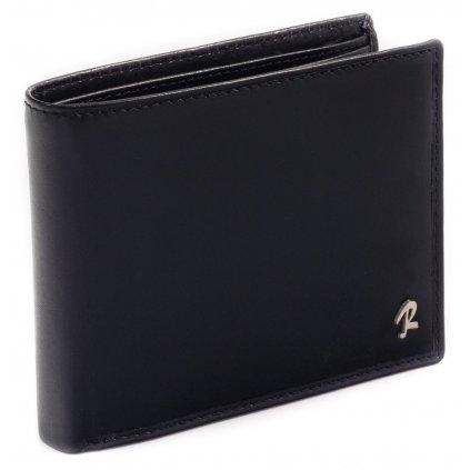 Klasická pánská peněženka z hovězí kůže ve vždy módní černé barvě