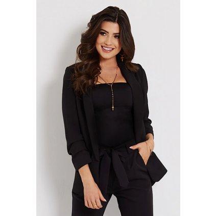 Klasické dámské sako v černé barvě