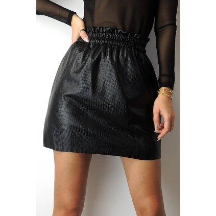 Černá sukně onesize s vysokým pasem