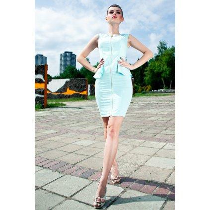 3507-2 vestové šaty bez rukávů - mátový sorbet