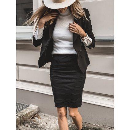 Elastická tužková sukně ZELDA s vodorovnými pruhy IVON