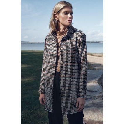 Kostkovaný dámský kabátek M719  FIGL