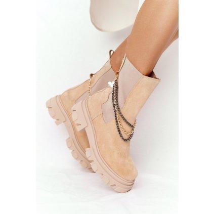 Semišové Boty Pérka Lewski Shoes 2998-0 Sandové