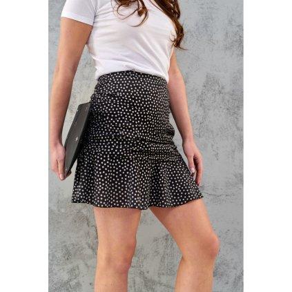 Mini sukně s ozdobnými volánky