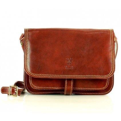 Italská kožená kabelka messenger bag klasická taška