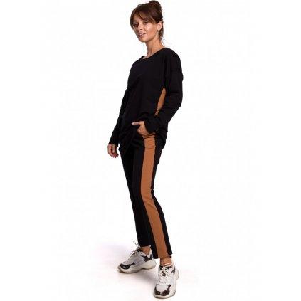 Kalhoty s rovnými nohavicemi s pruhy po stranách B173