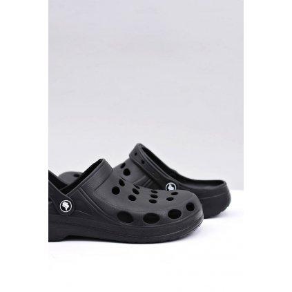 Pánské Klasické Nazouváky Černé Crocsy