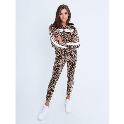 Set dámský komplet  RENI zvířecí vzor leopard Dstreet