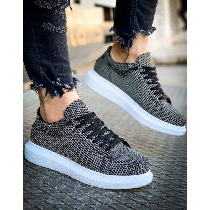 Sneakersy Pánské tenisky bílo-černé ZX0141