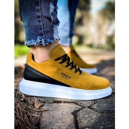 Sneakersy Pánské tenisky v hnědé barvě ZX0154