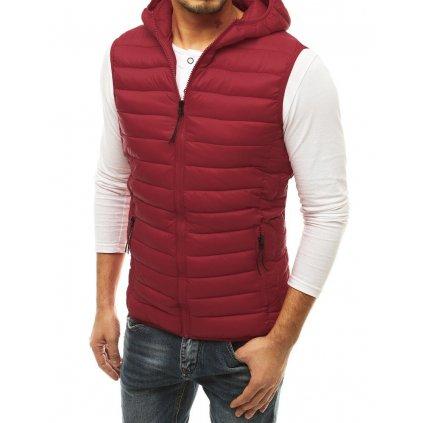 Pánská prošívaná vesta různých barev vesta na zip s kapucí