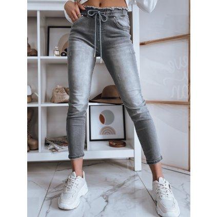 Dámské riflové kalhoty džíny LESS tmavě šedé Dstreet