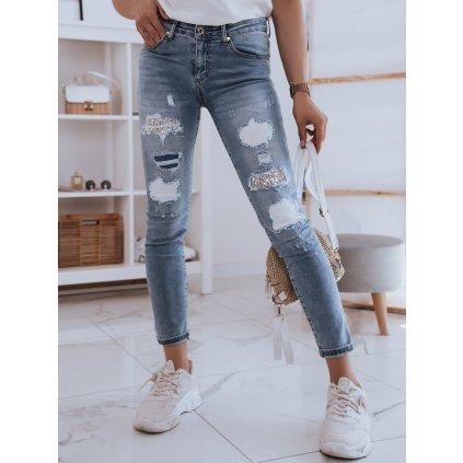 Dámské riflové kalhoty džíny BORA modré Dstreet